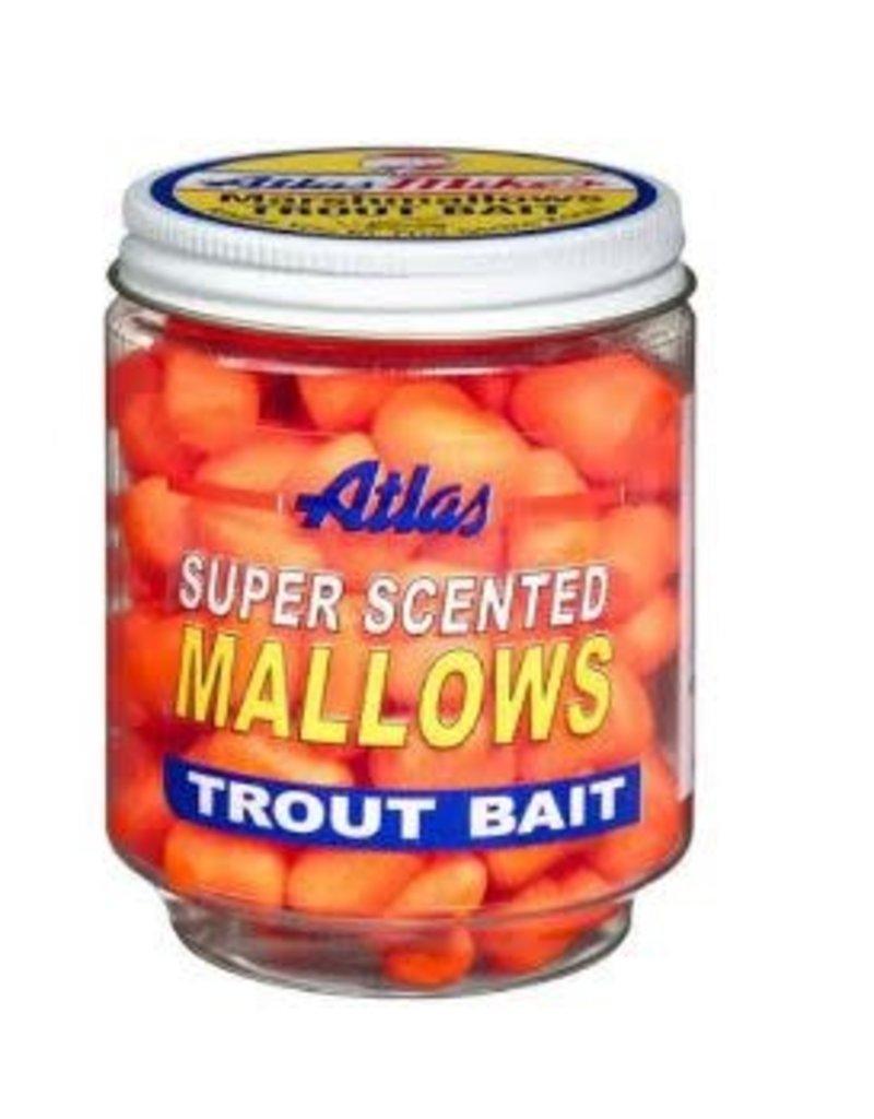 Atlas-Mikes Atlas-Mike's 30033 Super Scented Mallows Orange/Garlic 1.5oz Jar