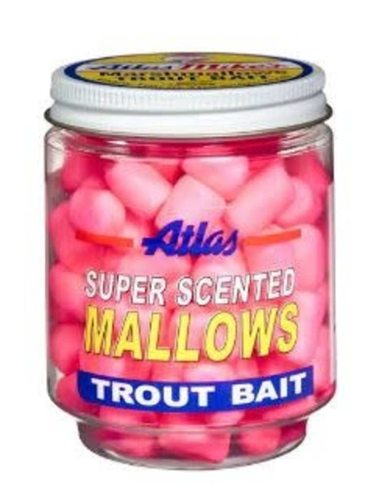 Atlas-Mikes Atlas-Mike's 30035 Super Scented Mallows Pink/Shrimp 1.5oz Jar