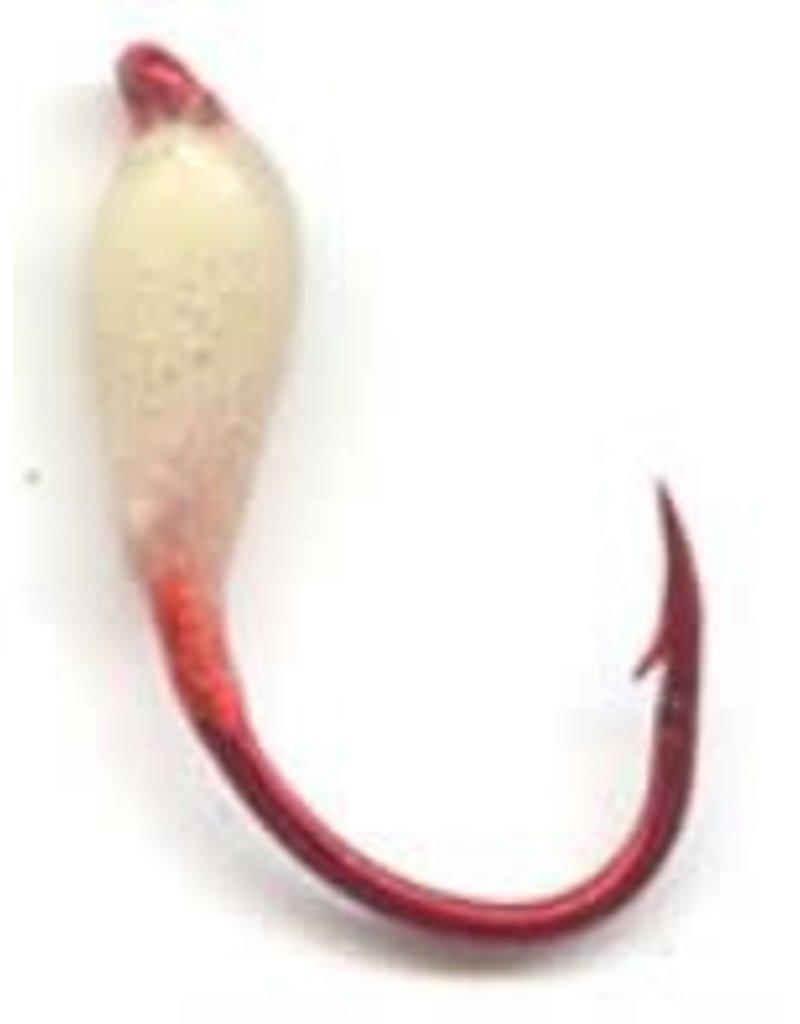 Macks GLO® HOOKS | RED HOOK SERIES Maggot White Size 6