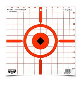 "Birchwood Casey 37210 Birchwood Casey Rigid 12"" Crosshair Sight-In Target - 10 targets"
