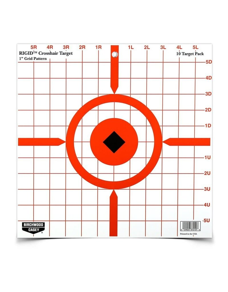 "Birchwood Casey 37210 Birchwood Casey Rigid 12"" Crosshair Sight-In Target - 10 targets"