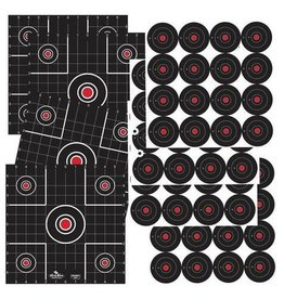 "Birchwood Casey 35325 Dirty Bird® Combo 6-12"" Sight-In & 96-3"" Bull's-eye Targets- 12 sheets"