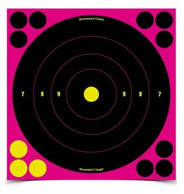 "Birchwood Casey 34808 Shoot•N•C® 8"" Pink Bull's-eye Target - 6 targets"