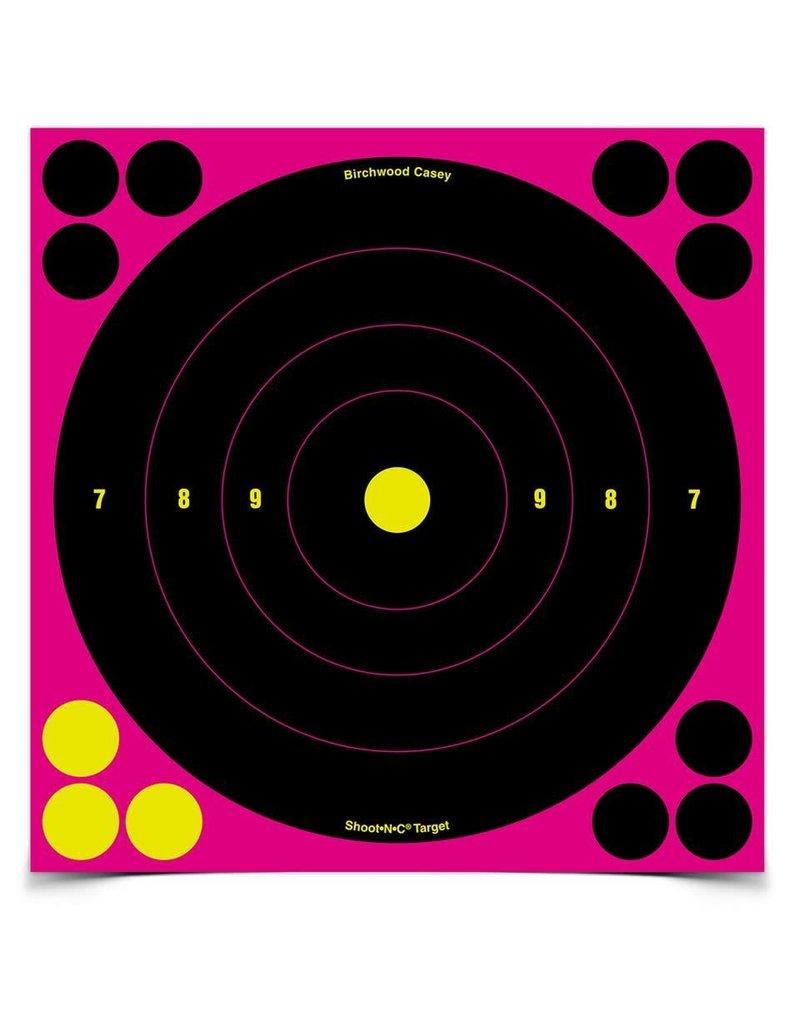 "Birchwood Casey 34808 Shoot•N•C® 8"" Pink Bull's-eye Target - 6 targets"