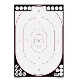 "Birchwood Casey 34615 Shoot•N•C® 12"" x 18"" Oval White/Black Silhouette - 5 targets"
