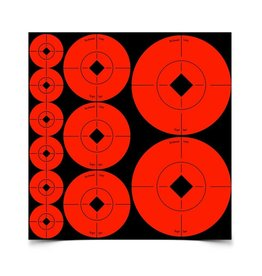 "Birchwood Casey 33928 Birchwood Casey Target Spots Assortment - 1"" - 60, 2"" - 30 & 3"" - 10 sheets"