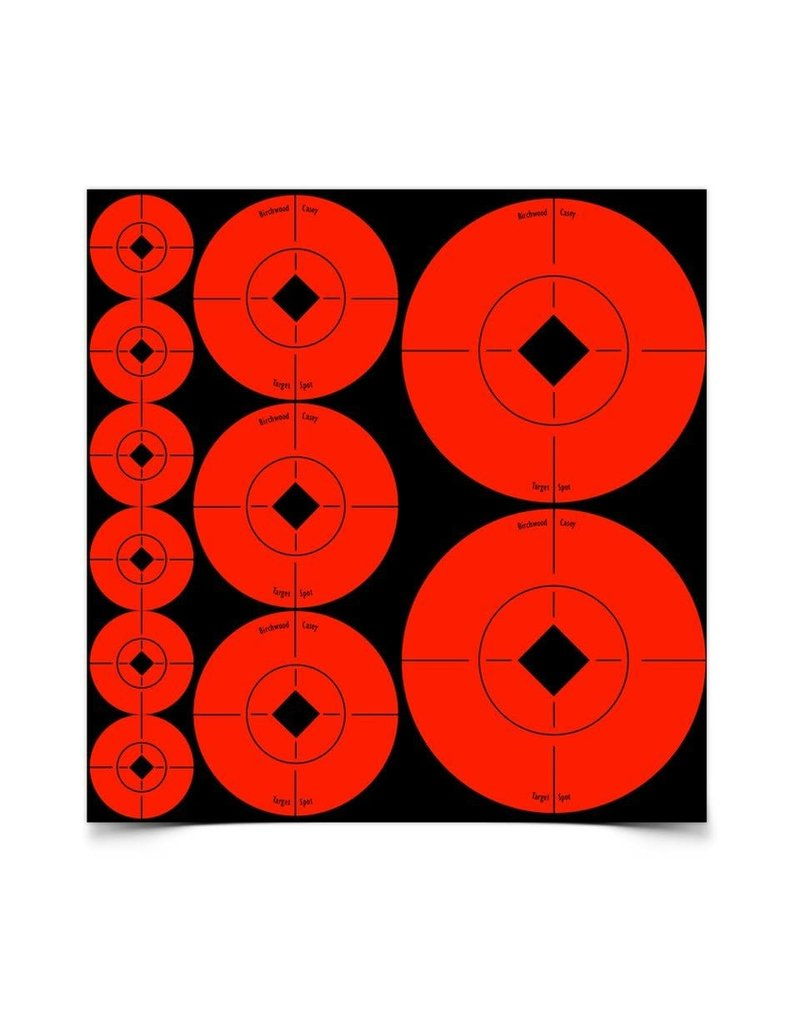 "Birchwood Casey 33928 Birchwood Casey Target Spots Assortment - 1"" - 60, 2"" - 30 & 3"" - 10 sheets"