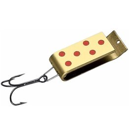 JAKES SPIN-A-LURE 1/4,BRASS/RED-DOT