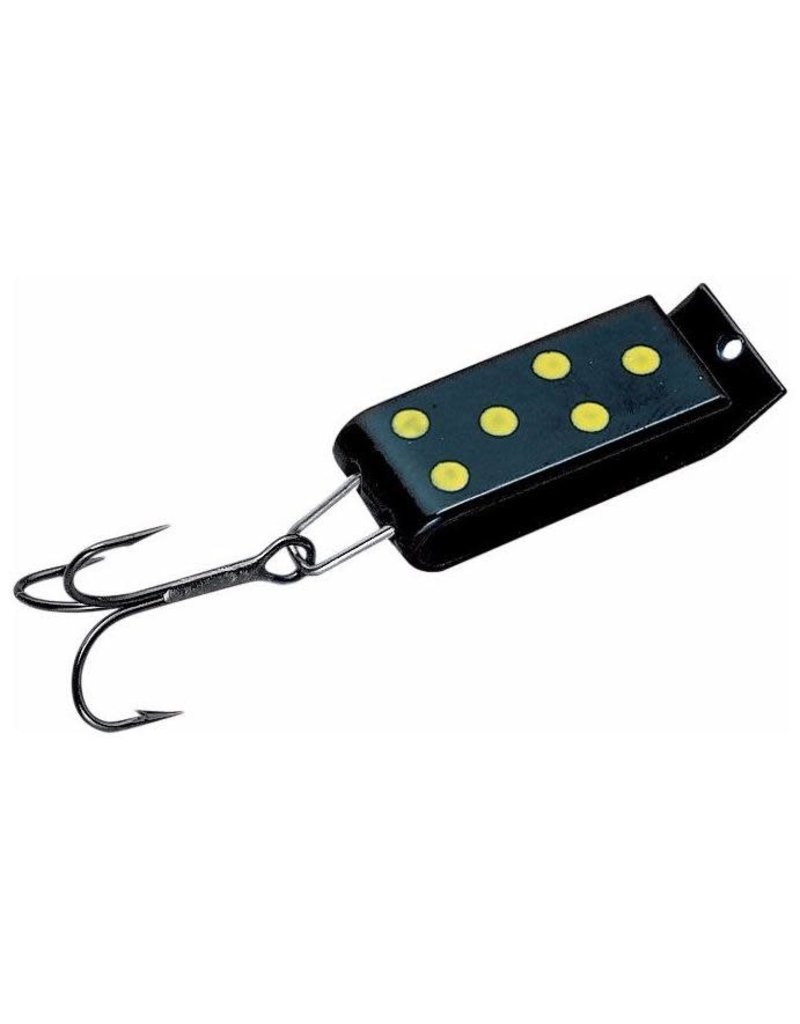 JAKES SPIN-A-LURE 1/4,BLACK/YEL-DOT