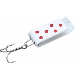 Jakes Lures JAKES SPIN-A-LURE 1/4,WHITE/RED-DOT