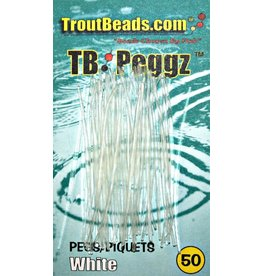 Troutbeads TROUTBEAD PEGGZ (50), TRANS-WHITE(CLEAR)