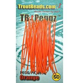 Troutbeads TROUTBEAD PEGGZ (50), ORANGE
