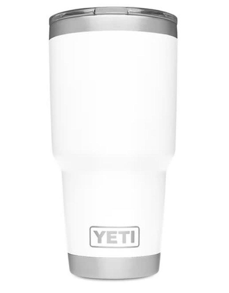 Yeti Rambler 30oz Tumbler w/MagSlider White