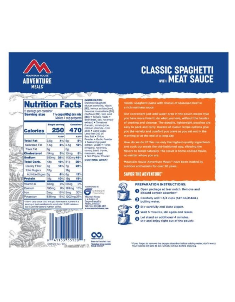 Mountain House Classic Spaghetti with Meat Sauce CLEAN LABEL