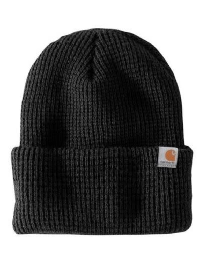 Carhartt Carhartt WOODSIDE HAT 103265-001OFAA M Knt Insltd Wffle Beanie 001-Black