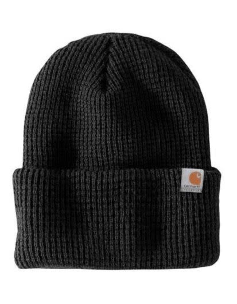Carhartt WOODSIDE HAT 103265-001OFAA M Knt Insltd Wffle Beanie 001-Black