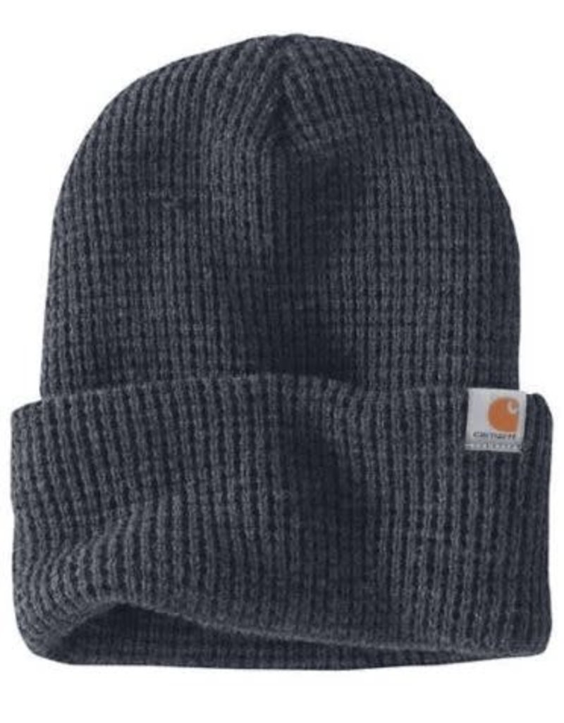 Carhartt Carhartt Woodside Hat, Coal Heather, 103265-074OFAA M Knt Insltd Wffle Beanie 074