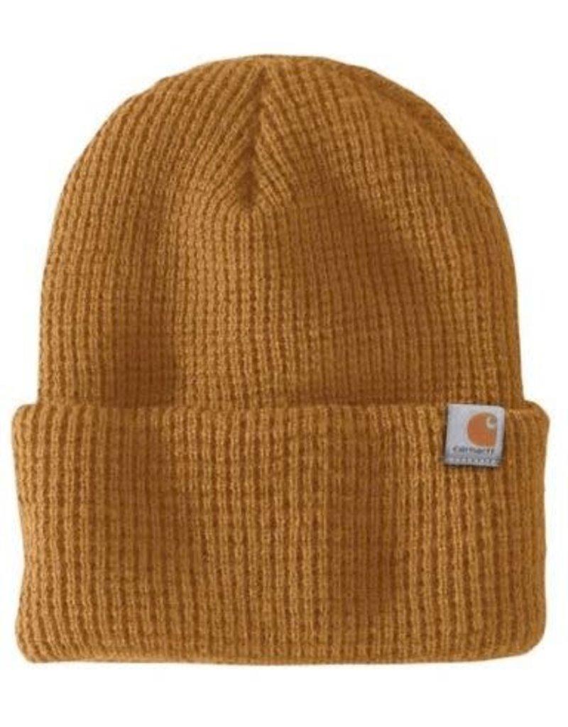 Carhartt Carhartt Woodside Hat, Carhartt Brown, 103265-211OFAA M Knt Insltd Wffle Beanie 211