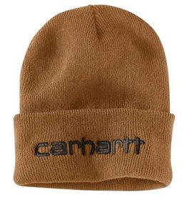 104068-211OFAA M Knt Ins Logo Grphc Cffd Beanie 211-Carhartt Brown