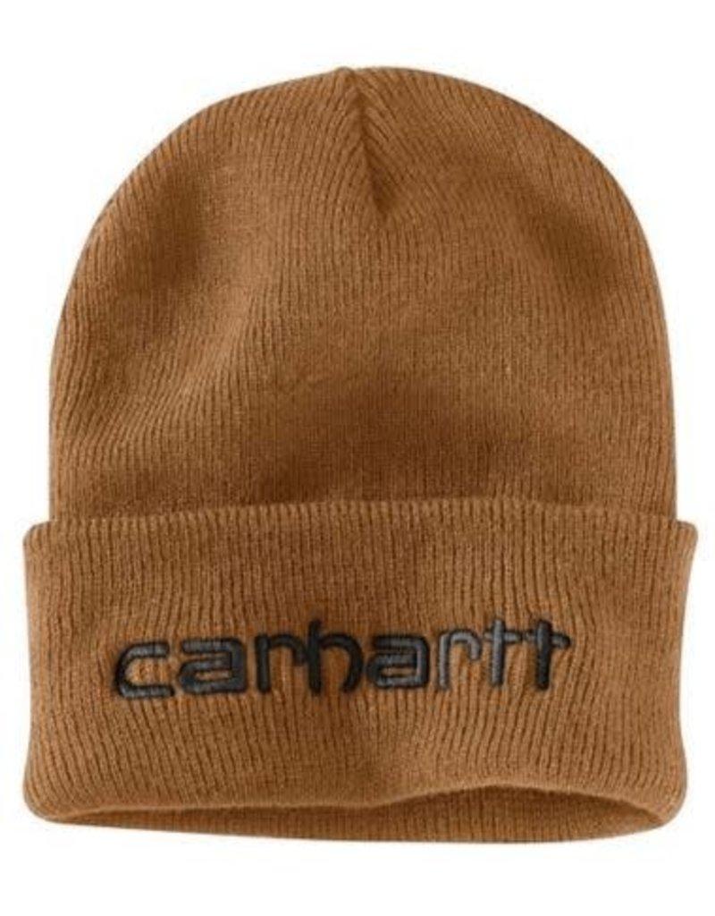 Carhartt Men's Teller Hat, Carhartt Brown, 104068-211OFAA M Knt Ins Logo Grphc Cffd Beanie 211