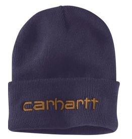 Carhartt 104068-I34OFAA M Knt Ins Logo Grphc Cffd Beanie I34-Dusk Blue