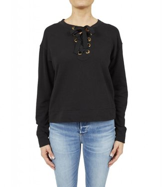 Black Orchid Lace Up Sweater