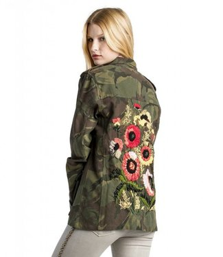 MM Vintage Floral Embroidered Camo Jacket