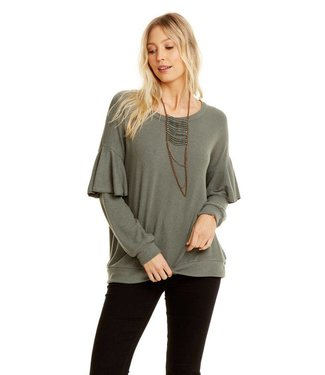 Chaser Ruffle Dolman Tier Sleeve