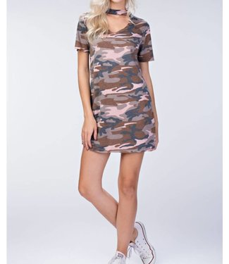 Honey Punch T Shirt Camo Dress