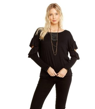 Chaser Vintage Ruffle Dolman