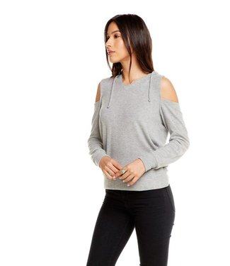 Chaser Love Knit Open Shoulder Pullover