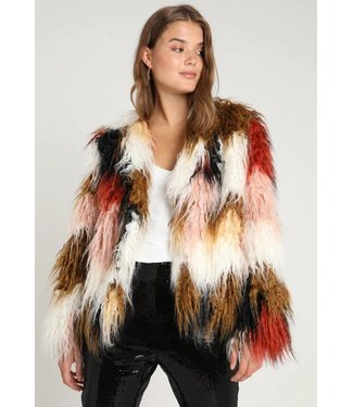 MinkPink Making History Fur Jacket