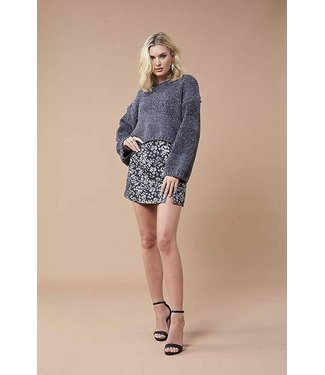 MinkPink Night Out Metallic Sweater