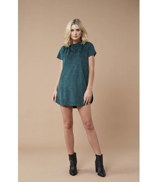 MinkPink Remember Me Suede Dress
