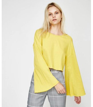 MinkPink Textured Flare Sleeve Top