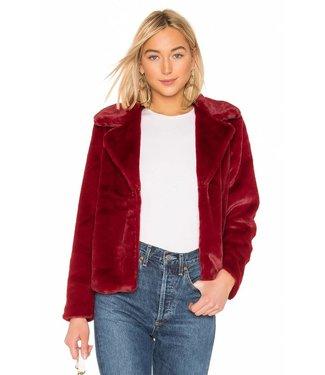 MinkPink Be Mine Faux Fur Jacket