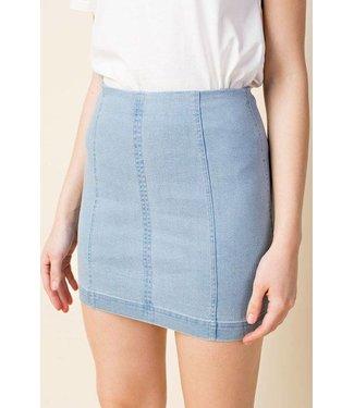 Honey Punch Denim Skirt