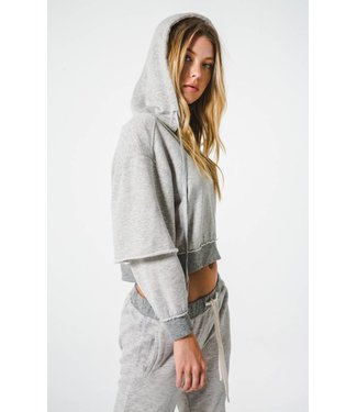 The Laundry Room Muscle Beach Crop Hoodie