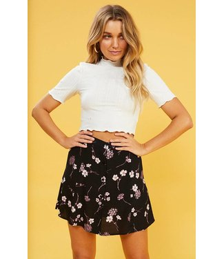 MinkPink HADLIA FLORAL EMBROIDERED TOP