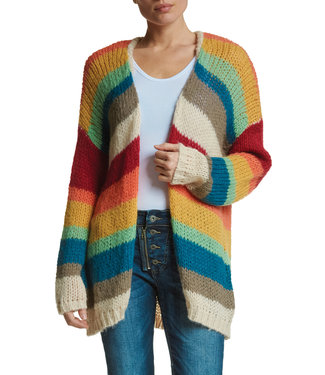 Elan Rainbow Stripe Cardigan