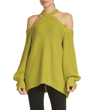 Elan Lime Cutout Sweater