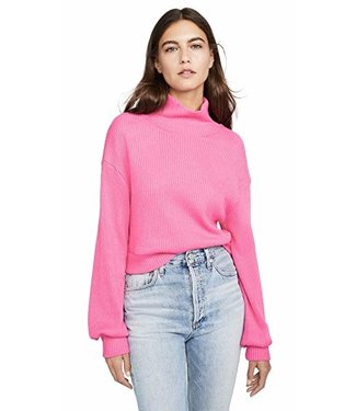 Line & Dot Aston rib knit turtle neck top