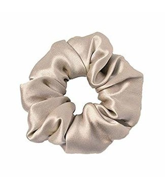 8 Other Reasons Beige Satin Scrunchie