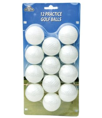 On Course 12 PLASTIC BALLS WHITE