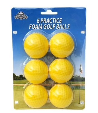 On Course 6 FOAM PRACTICE BALLS YELLOW
