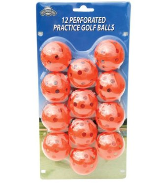 On Course 12 PERFORATED GOLF BALLS ORANGE