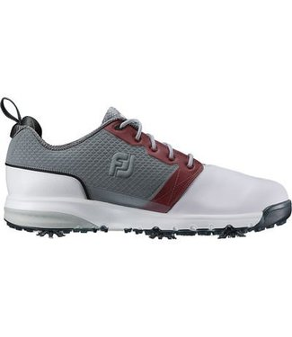 Footjoy CONTOUR FIT WHITE/GRAY/CRIMSON 54095