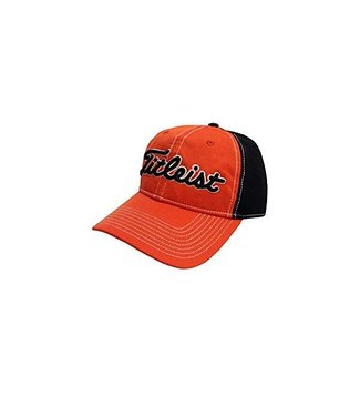 Titleist PERFORMANCE PIQUE HAT ORANGE/BLACK