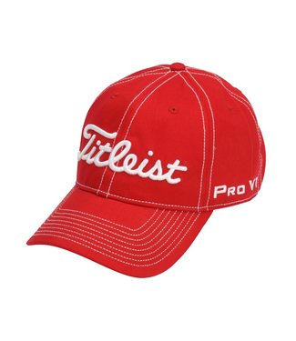 Titleist CONTRAST STITCH HAT RED