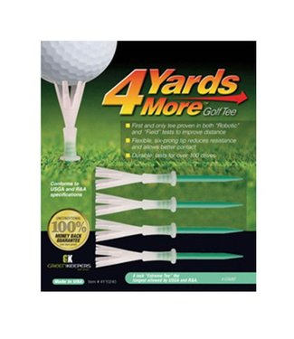 Green Keepers 4 MORE YARDS GOLF TEE 4""